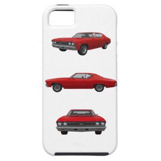Rojo Chevelle 1968 SS: iPhone 5 Cárcasa