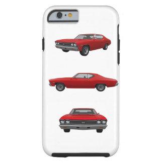 Rojo Chevelle 1968 SS: Funda De iPhone 6 Tough