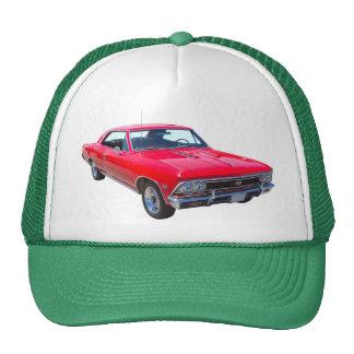 Rojo Chevy 1966 Chevelle SS 396 Gorras