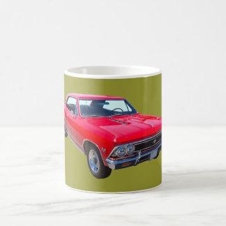 Rojo Chevy 1966 Chevelle SS 396 Tazas De Café