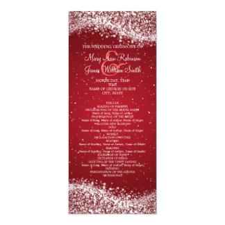 Rojo chispeante de la onda del programa elegante invitaciones personalizada