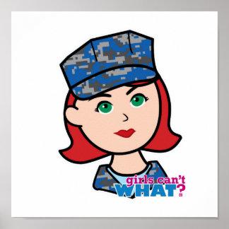 Rojo claro principal de Camo de la marina de guerr Poster