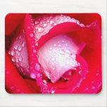 Rojo/color de rosa Rocío-Besada rosado Tapetes De Raton