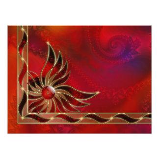 Rojo como la impresión de la foto de la llama