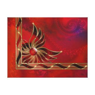 Rojo como la impresión de la lona de la llama impresión en lona estirada