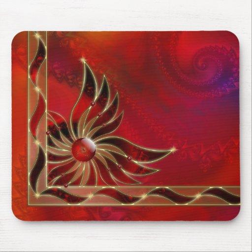 Rojo como la llama Mousepad Tapete De Raton