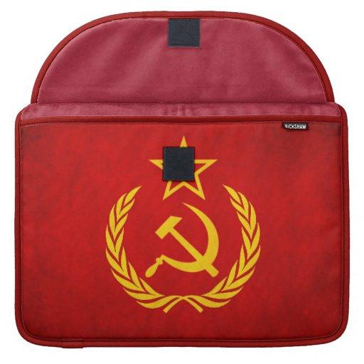 rojo comunista ruso del martillo de la manga 15 de funda para macbooks