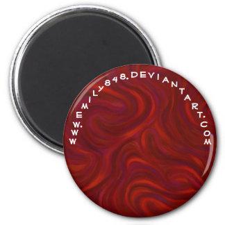 Rojo con algo probar imán redondo 5 cm