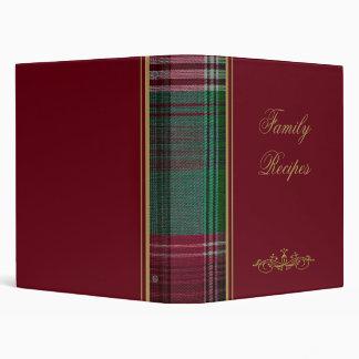 Rojo con el álbum de foto de la tela escocesa/la c