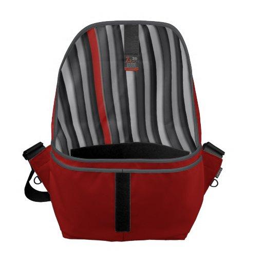 Rojo con el bolso del mensajero de la guarnición d bolsas messenger