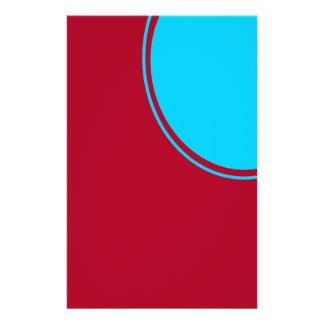 """Rojo con el círculo de la turquesa de la MOD Folleto 5.5"""" X 8.5"""""""