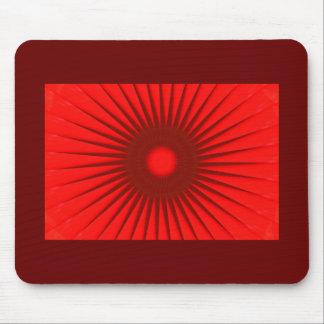 Rojo con fractal negro del punto alfombrillas de raton