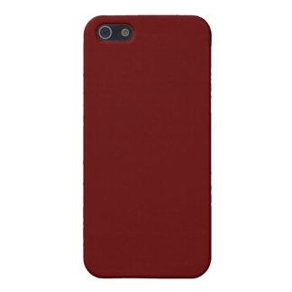 Rojo con la frontera iphone4 del brillo del oro iPhone 5 cárcasas