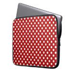 Rojo con la manga blanca del ordenador portátil de funda ordendadores