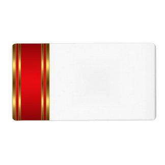Rojo conocido del oro de la etiqueta de la etiquet etiquetas de envío
