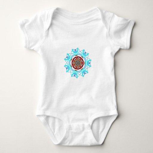 rojo contra escama tribal azul body para bebé