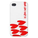 Rojo-Corazón-Teléfono iPhone 4 Carcasa