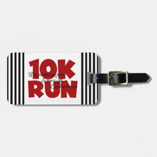rojo corrido 10K Etiqueta De Equipaje