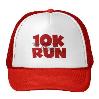rojo corrido 10K Gorros