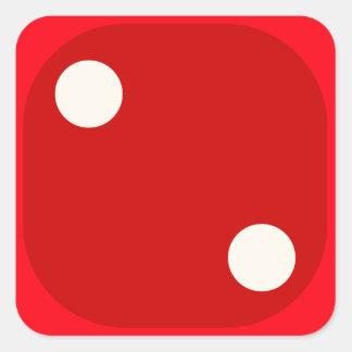 Rojo corte en cuadritos mueren sello cuadrado del calcomanias cuadradas