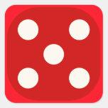 Rojo corte en cuadritos mueren sello cuadrado del  colcomanias cuadradases