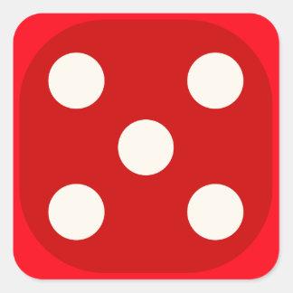 Rojo corte en cuadritos mueren sello cuadrado del colcomanias cuadradas