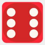 Rojo corte en cuadritos mueren sello cuadrado del pegatinas cuadradas personalizadas
