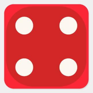 Rojo corte en cuadritos mueren sello cuadrado del calcomanía cuadradas personalizadas