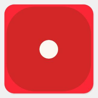 Rojo corte en cuadritos mueren sello cuadrado del pegatina cuadrada