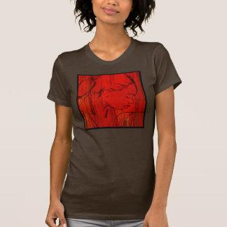 Rojo criollo de la lluvia camisetas