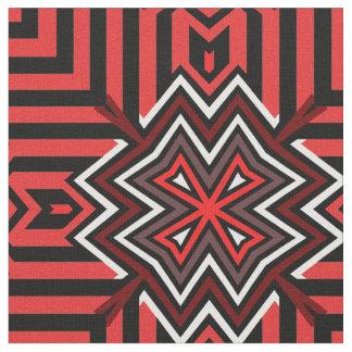 Rojo cruzado de los nórdises telas