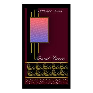 rojo cuadrado de la ventana tarjetas de visita