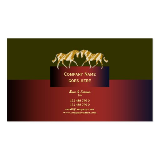 Rojo dappled del verde del oro del márketing de ne tarjeta de visita