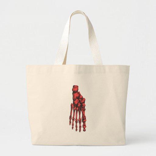 Rojo de 1 pie abajo bolsas de mano