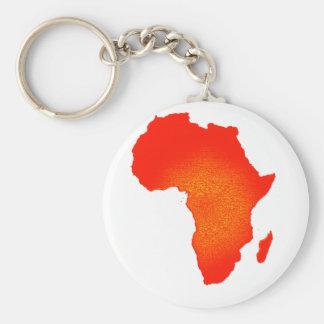 Rojo de África Llavero Redondo Tipo Pin
