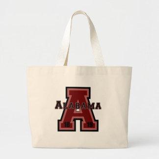 """Rojo de Alabama """"A"""" Bolsa Tela Grande"""
