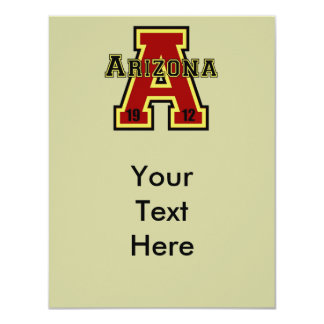 """Rojo de Arizona """"A"""" Invitación 4.25"""" X 5.5"""""""