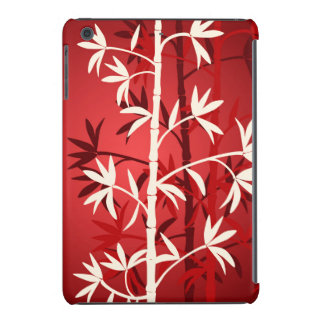 Rojo de bambú blanco fundas de iPad mini