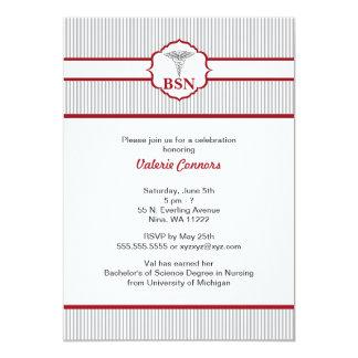 Rojo de Borgoña de la graduación del RN BSN LPN Comunicado Personalizado