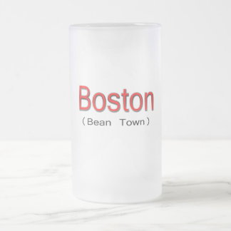 Rojo de Boston (ciudad de la haba) Taza Cristal Mate