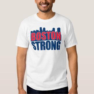 Rojo de Boston y azul fuertes Poleras