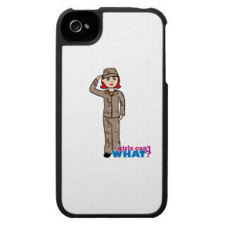Rojo de Camo del desierto del ejército iPhone 4 Protector