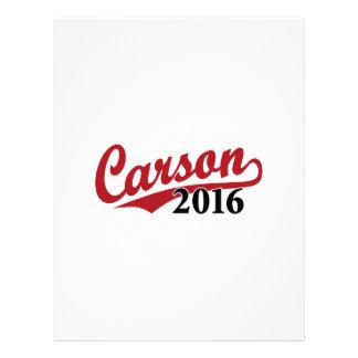 Rojo de Carson 2016 Membretes Personalizados