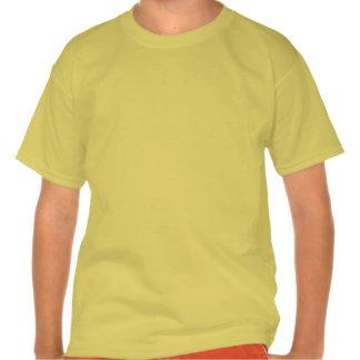 Rojo de Civishi #32, pájaro corriente abstracto T-shirts