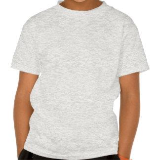 Rojo de Civishi #32, pájaro corriente abstracto T-shirt