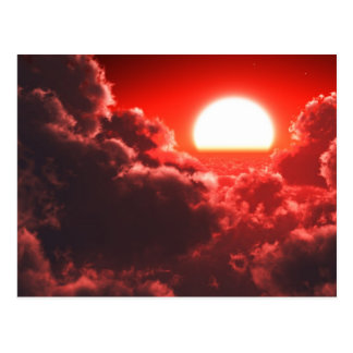 Rojo de Cloudscape Postal