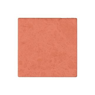 Rojo de Coquelicot Imán De Piedra