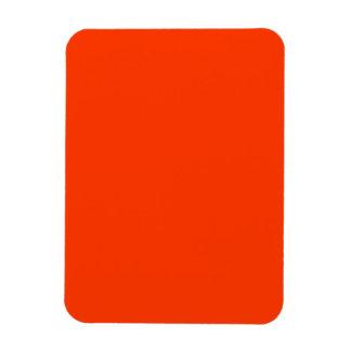 Rojo de Coquelicot Rectangle Magnet