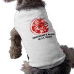 Rojo de CRAS Camisetas De Perrito