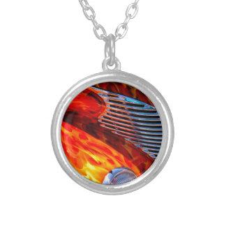 Rojo de cromo clásico de la pintura de la llama de joyerias